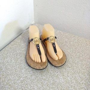 Michael Michael Kors Black Rubber Flop Sandals